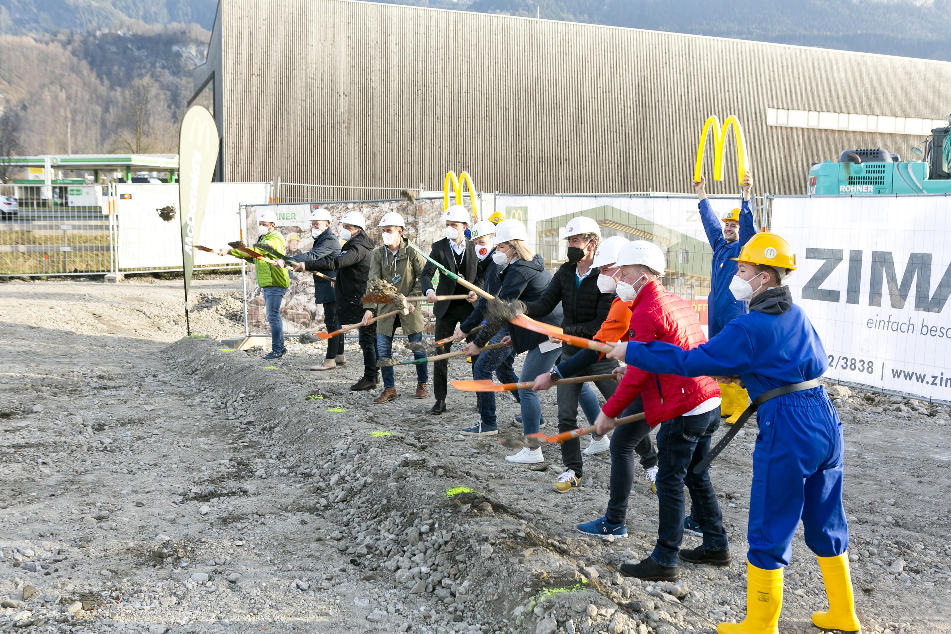Baustart für größtes McDonald's Restaurant in Vorarlberg