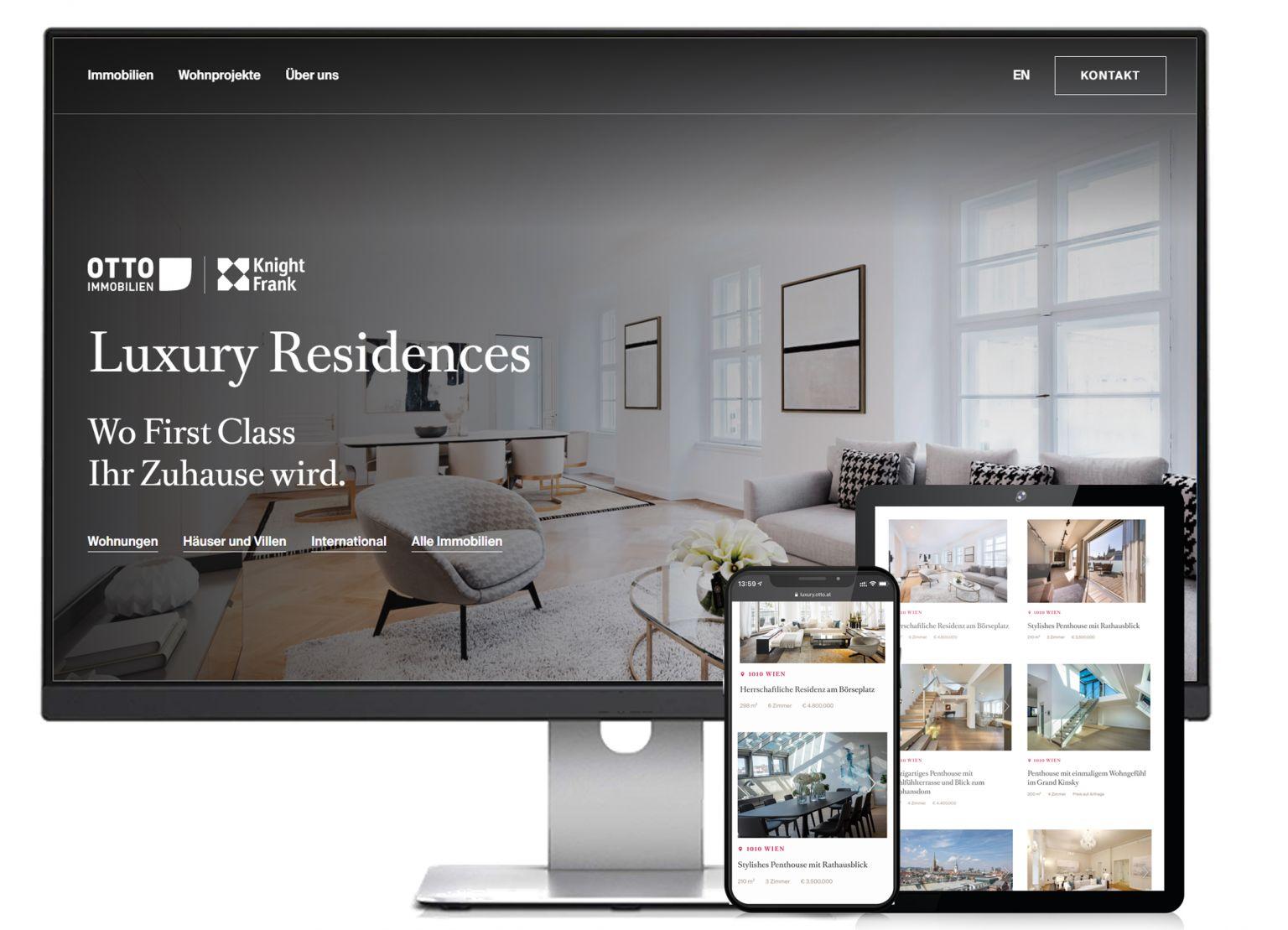 OTTO Immobilien launcht Webauftritt für Luxusimmobilien