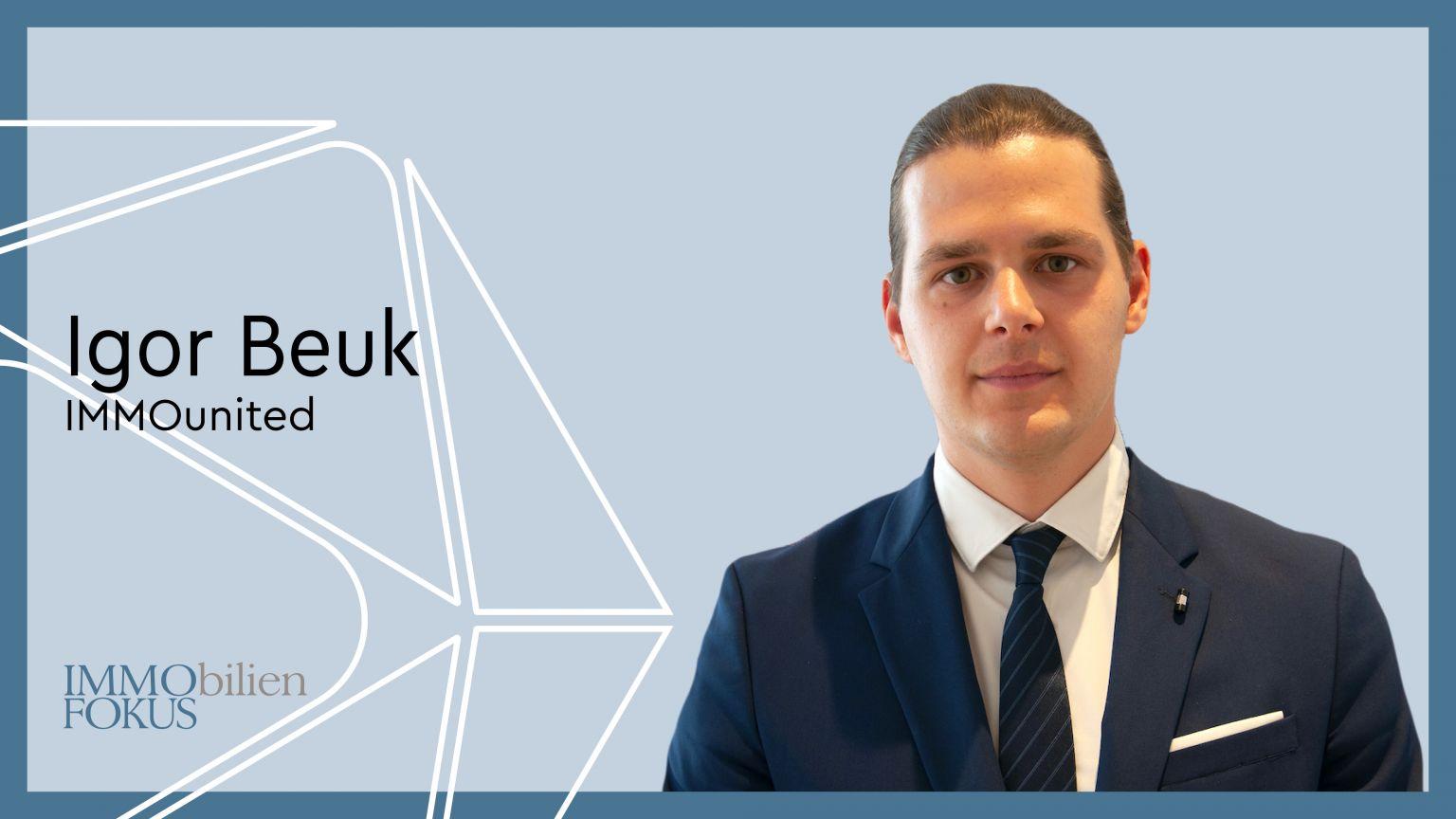 Igor Beuk verstärkt das Sales Team der IMMOunited