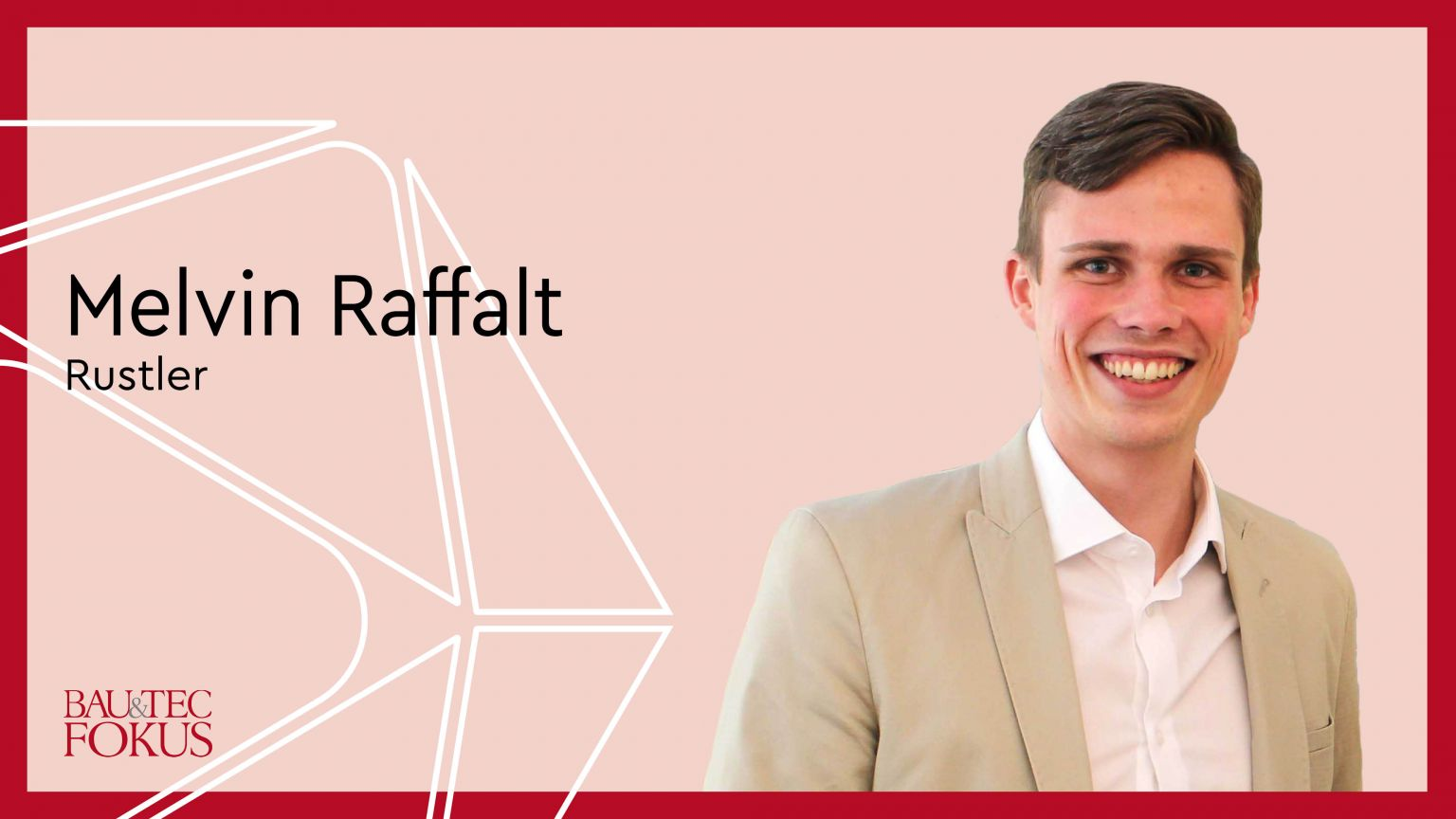 Melvin Raffalt ist neuer Senior Project Manager bei Rustler