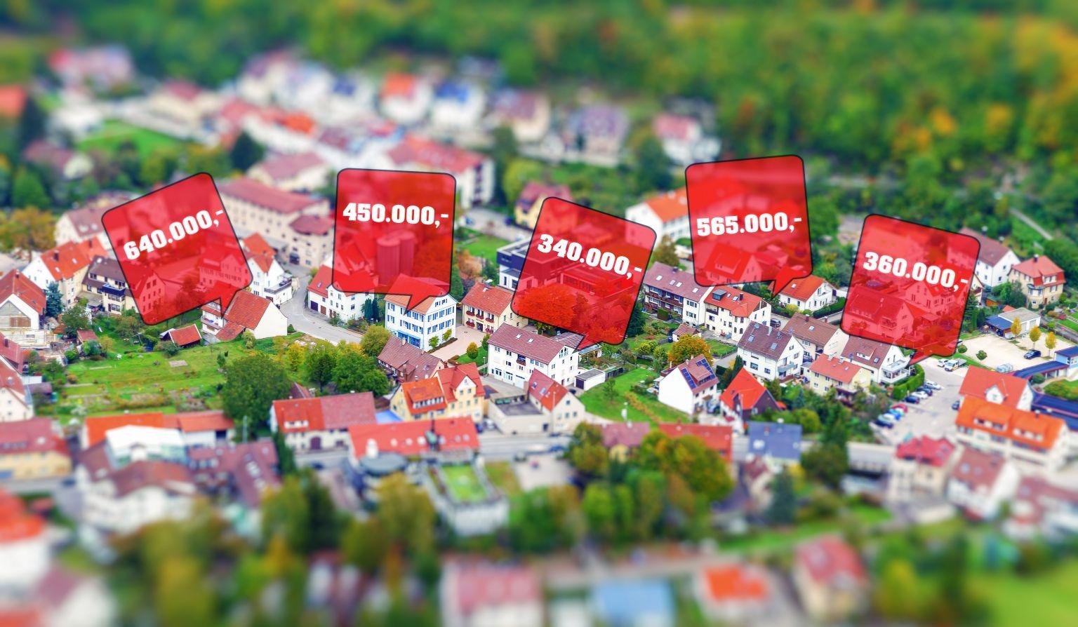 Preisschere bei Wohnimmobilien 2020