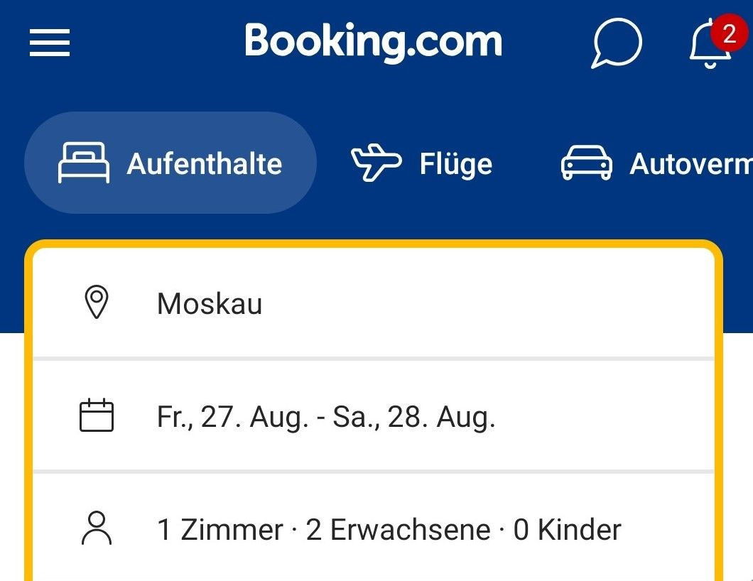 Booking.com muss in Russland Millionenstrafe zahlen