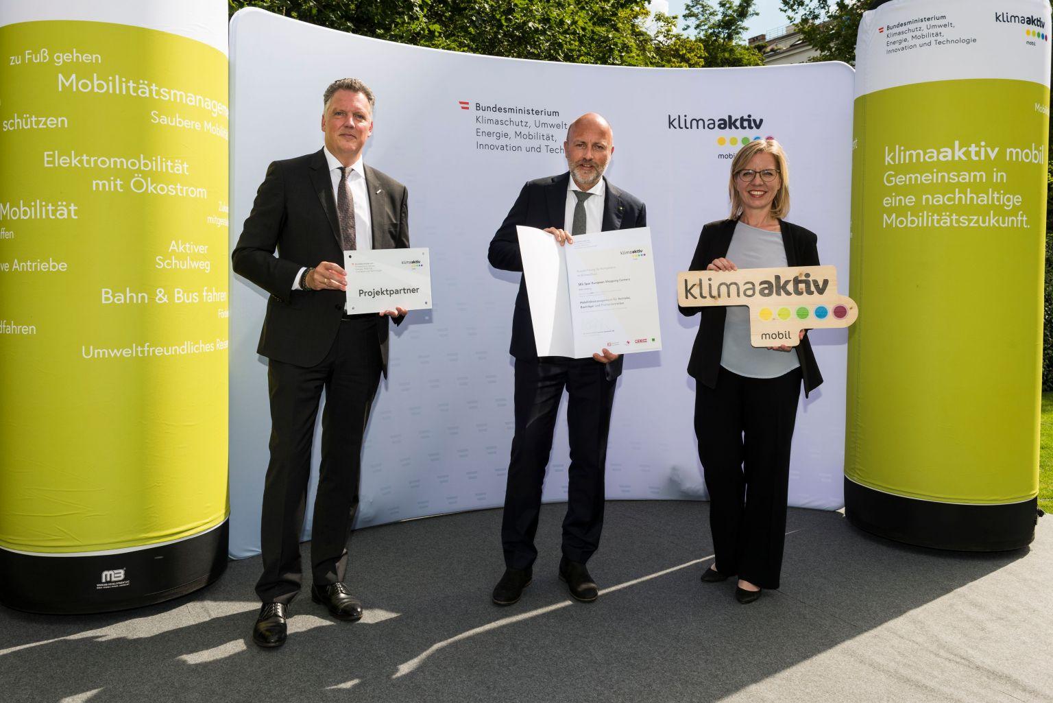 """klimaaktiv mobil-Projektpartner"": SES erhält Auszeichnung"