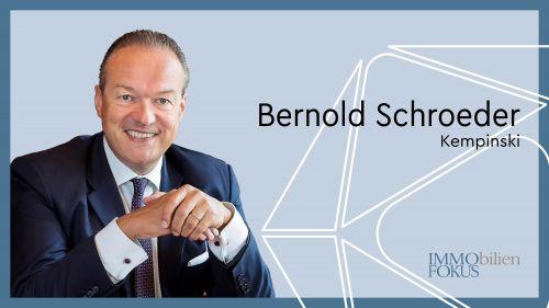Kempinski bestätigt das Mandat von Bernold Schroeder
