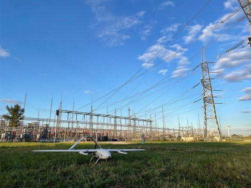 Drohnen kontrollieren APG-Hochspannungsleitungen