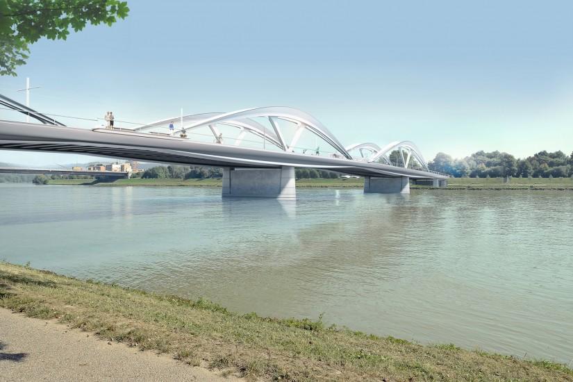 Linz: Neue Donaubrücke