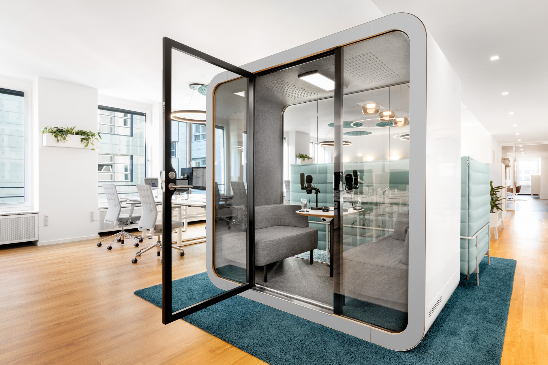 Kommunikationsbüro der Zukunft
