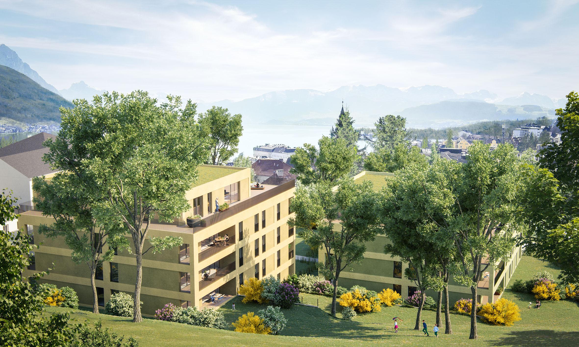 Baustart in Gmunden