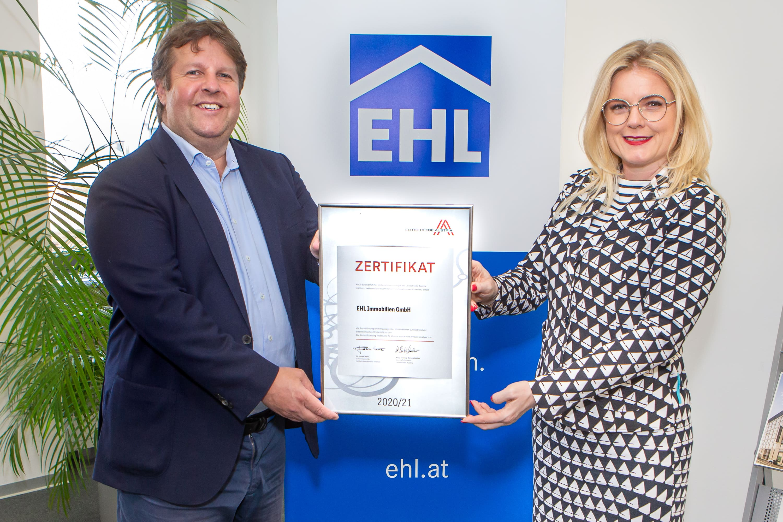 EHL Immobilien erneut als österreichischer Leitbetrieb zertifiziert