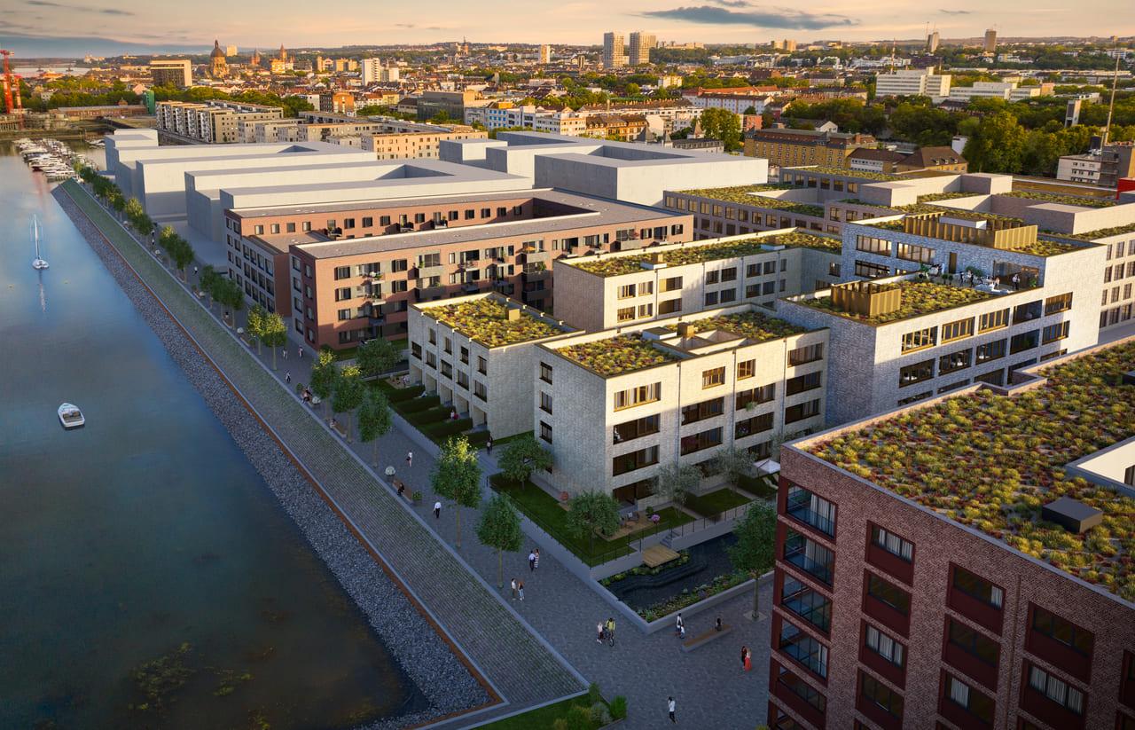 CA Immo und UBM Development starten Bau des Kaufmannshofs im Zollhafen Mainz